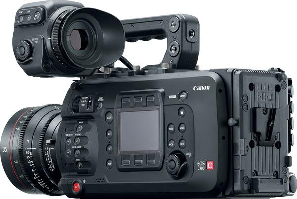 Canon EOS C700 with CN-E35mm T1.5 L F lens and OLED 1920x1080 Electronic View Finder EVF-V70