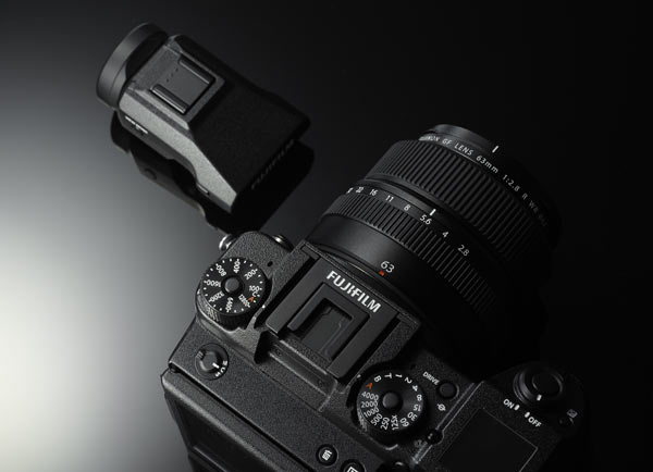 Fujifilm GFX 50S with detachable electronic viewfinder