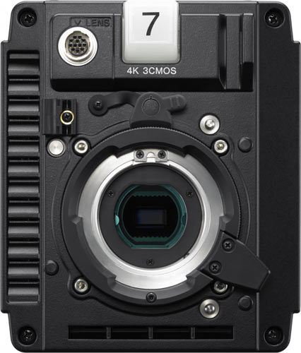 Sony HDC-P43 4K/HD, front view of camera body