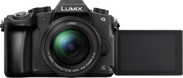 Panasonic LUMIX G85 with LCD facing front