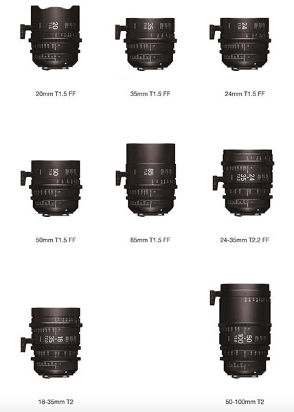 Sigma Cine Family of Products