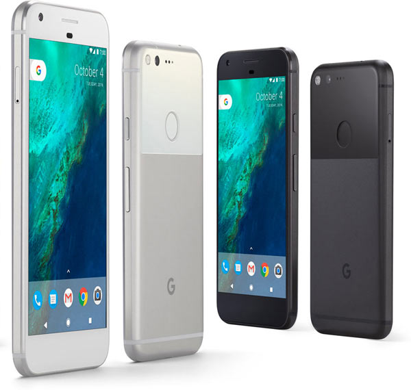 "Left to right: Pixel -silver colour, 5.5"" and 5""; Pixel - black colour, 5.5"" and 5"""