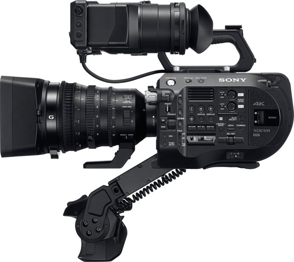 Sony FS7 II: LCD monitor with detachable eyepiece