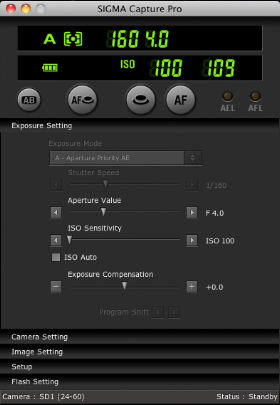 SIGMA Capture Pro 1.3.0 software