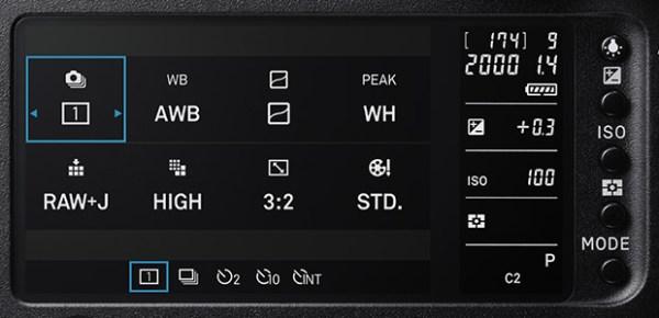 SIGMA sd Quattro H (back view): Dual monitors