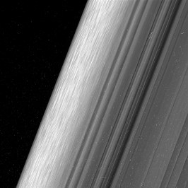 This image shows a region in Saturn's outer B ring. NASA's Cassini spacecraft viewed this area at a level of detail twice as high as it had ever been observed before. Credits: NASA/JPL-Caltech/Space Science Institute