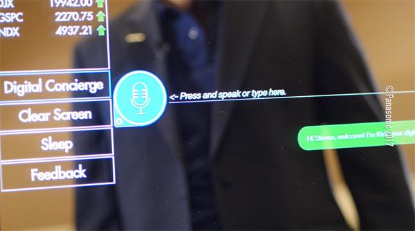 'Panasonic Digital Concierge': Image grab from video above