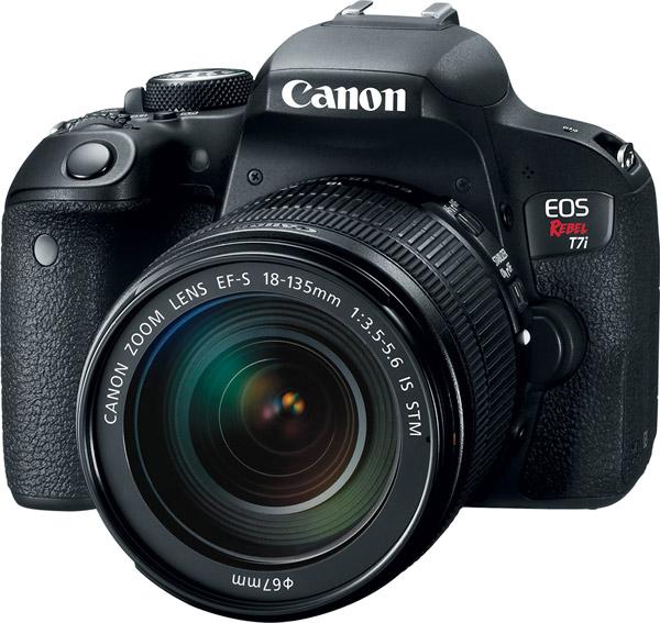 Canon EOS Rebel T7i with EF-S 18-135mm f/3.5-5.6 IS STM lens