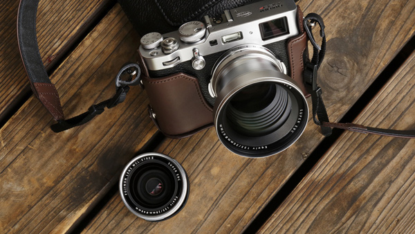 Fujifilm X100F with optional Wide and Tele Conversion Lenses
