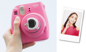 "Fujifilm INSTAX® Mini 9's Selfie mirror: ""You can check your framing with the mirror next to the lens"""