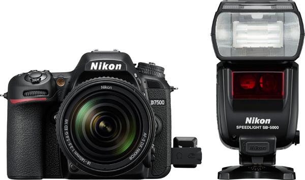 Nikon D7500 and Speedlight SB-5000