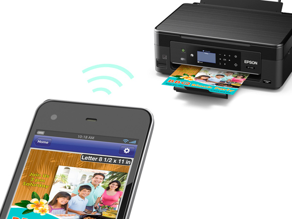 Epson XP-440 and smartphone
