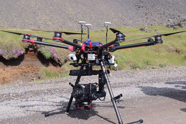 Panasonic AU-EVA1 with drone