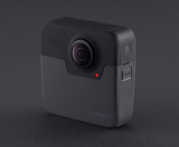 GoPro Fusion, back view