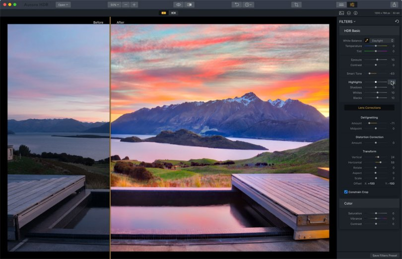 Lens Correction Before & After Images - Copyright Trey Ratcliff