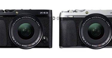 Fujifilm X-E3 (left to right): black and silver