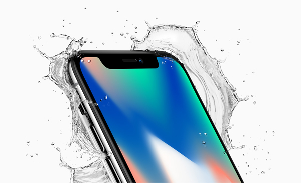 "iphone X, Silver color: ""iPhone X is as elegant as it is durable while maintaining water and dust resistance."""