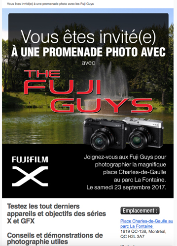Fujifilm Canada: L'événement à Montréal et la promenade photo avec les Fuji Guys
