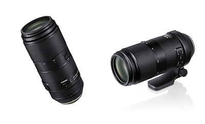Tamron 100-400mm F4.5-6.3 Di VC USD (left) and Tamron 100-400mm F4.5-6.3 Di VC USD with Tripod Ring Mount (right)