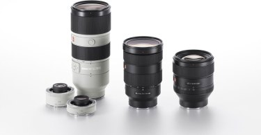 Sony (left to right): FE 70-200mm F2.8 GM OSS (SEL70200GM) with Sony Teleconverter Lenses (2X and 1.4X), FE 24-70mm F2.8 GM (SEL2470GM), and FE 85mm F1.4 GM (SEL85F14GM)