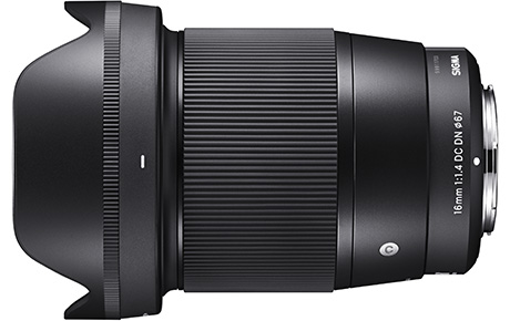 SIGMA 16mm F1.4 DC DN | Contemporary with Petal type lens hood (LH716-01)