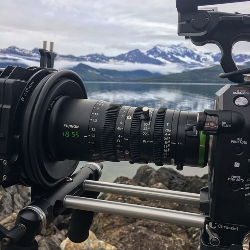 "Fujinon MK18-55mm on location for PBS/BBC co-production ""Wild Alaska Live"" with DP Mark Sharman: Image Courtesy of Fujifilm"