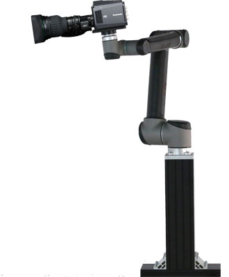 Panasonic ARCAM robotic camera system includes the Panasonic AK-UB300 camera, robot and its pedestal