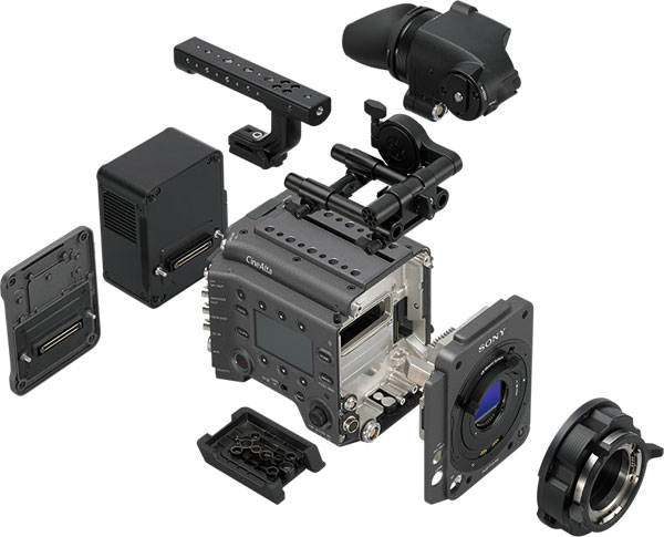 Sony VENICE has a fully modular design and even the sensor block is interchangeable.