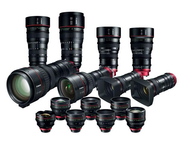 Family of Canon CN-E Cinema Lenses