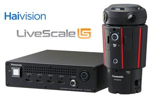 Panasonic 360-degree Live Camera with Haivision's KB 4K encoder and LiveScale's distribution platform