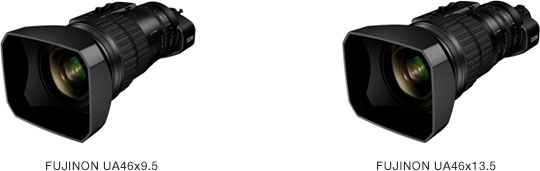 "Fujifilm 4K Compatible Broadcast Portable Zoom Lenses: ""FUJINON UA46x9.5"" and the ""FUJINON UA46x13.5"""