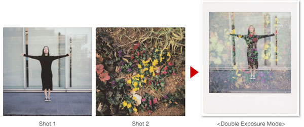 Fujifilm Instax® SQUARE SQ6: Double Exposure Mode - By pressing the shutter twice, two images can be overlapped on one film; Images Courtesy of Fujifilm
