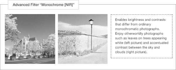 "Fujifilm XF10: Advanced Filter – ""Monochrome [NIR]"" Images Courtesy of Fujifilm"