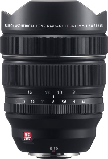 FUJINON XF8-16mmF2.8 R LM WR Ultra-Wide Angle Lens