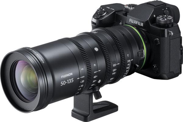 Fujifilm X-H1 with FUJINON MKX50-135mmT2.9 cinema lens
