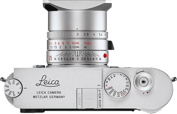 Leica M10-P Silver Top View