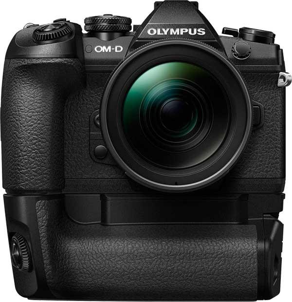 Olympus OM-D E-M1 Mark II with optional grip
