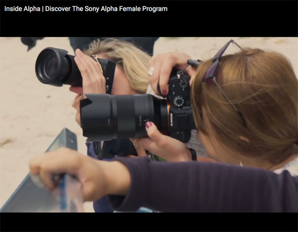"""Sony """"Alpha Female"""" Creator-in-Residence Program: Image grab from video above"""