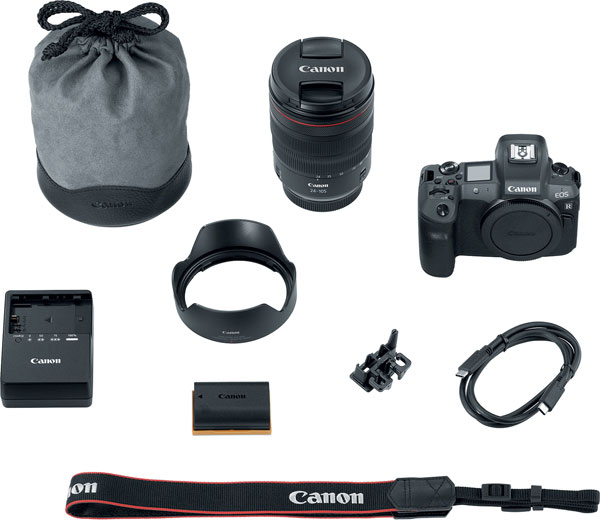 Canon EOS R body-and-lens kit with the new RF 24-105mm F4 L IS USM lens
