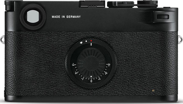 Leica M10-D: Rear of camera has two dials, one for on/off and WiFi and another for exposure compensation