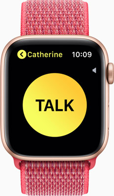 Apple Watch Series 4: The Walkie-Talkie feature offers quick voice communication with any Apple Watch user around the world.
