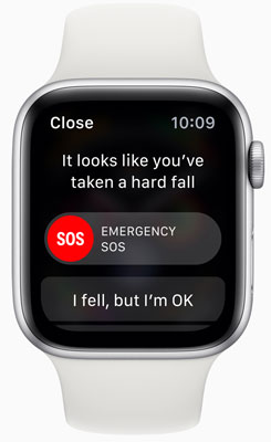 Apple Watch Series 4 can detect hard falls and if required, initiate a call to emergency services.