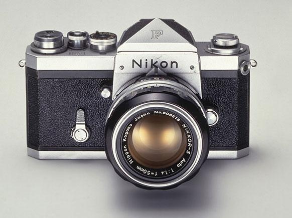 Nikon F SLR camera in 1959