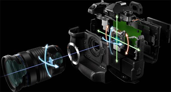 """OM-D E-M1X's new gyro sensor enables superior image stabilization performance"""