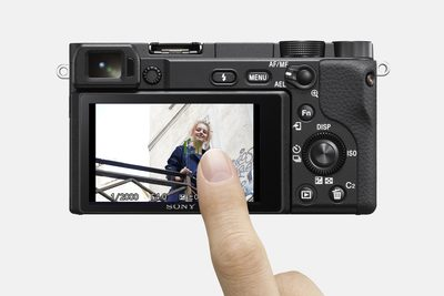 """Sony a6400: """"Once Touch Tracking is set in the menu, select your subject simply by touching the monitor. For either stills or movies, the camera will begin to auto-track the subject."""" Image Courtesy of Sony"""