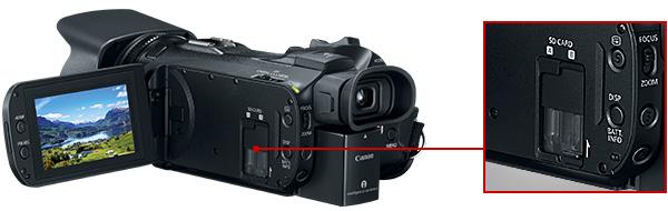 Canon VIXIA HF G50 4K UHD: Dual SD Card Slots