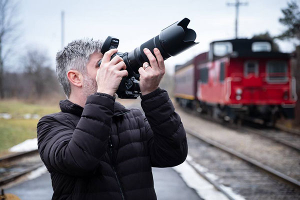 Fujifilm: X-Photographer Jonathan Bielaski (@jonbielaski on IG) was able to put the FUJINON GF100-200mmF5.6 R LM OIS WR through its paces on set at a recent shoot at the Waterloo Central Railway Train Experience in St. Jacob's, Ontario, Canada: Image Courtesy of Fujifilm