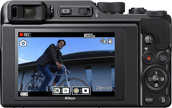 Nikon COOLPIX A1000 recording 4K UHD movies: Image Courtesy of Nikon