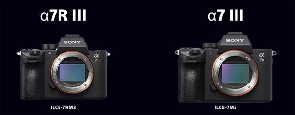 Sony α7R III and α7 III