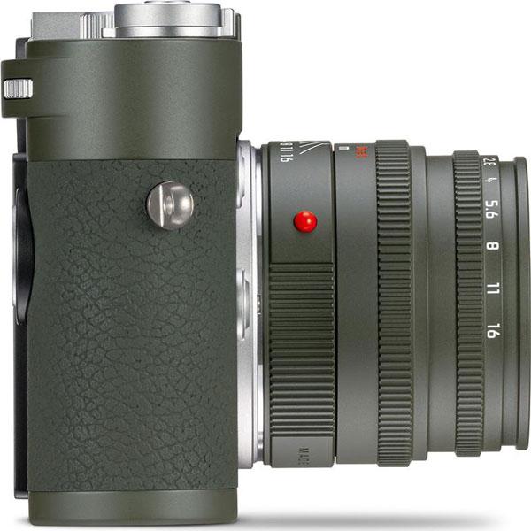 Leica M10-P Edition 'Safari' Camera (right-side view) with Leica Summicron-M 50 mm f/2 Edition 'Safari' Lens